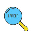 career word magnifying glass vector image
