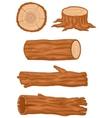 Cartoon Wooden log collection vector image