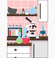 chemistry science lab poster design vector image