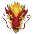 chinese dragon head red vector image