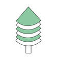 christmas tree pine vector image