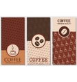 coffee card design vector image vector image
