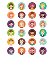 collection different round avatars vector image