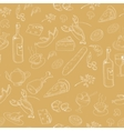 Collection of hand-drawn food Seamless pattern vector image vector image