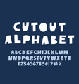 cute cutout alphabet - poster vector image