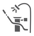 dentist chair glyph icon dental and medical vector image