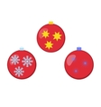 Different colored Christmas balls with ornaments vector image vector image