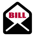 envelope bill text vector image