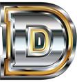 Fancy font Letter D vector image vector image
