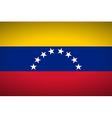 Flag of Venezuela vector image vector image