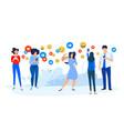 flat design concepts social network vector image