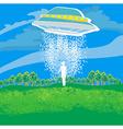flying saucer arrived vector image
