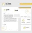 fry egg business letterhead envelope and visiting vector image