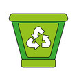 garbage can with recycle arrows icon image vector image vector image