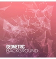 Geometric Polygonal abstract background vector image vector image