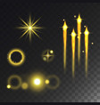 glowing lights effect and stars effect glow vector image vector image
