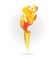 golden flame torch vector image