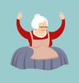grandmother yoga grandma yogi isolated relaxation vector image