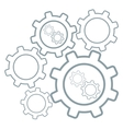 Group of cog wheels vector image vector image