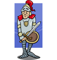 knight with sword cartoon vector image vector image