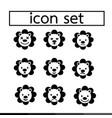 lion emotion icon set design vector image