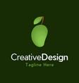 mango fruits vegetable creative business logo vector image vector image