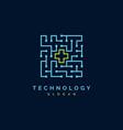 medical technology logo vector image vector image
