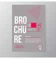 modern brochure minimal cover design vector image vector image