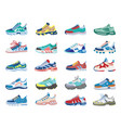 Modern sneakers running training footwear
