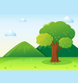 nature scene with tree in park vector image vector image