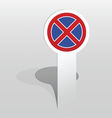No stopping sign vector image vector image