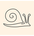 one line snail vector image