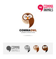 owl bird concept icon set and logo brand vector image