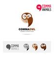 owl bird concept icon set and logo brand vector image vector image