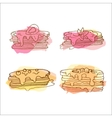 pancake Set of 4 hand drawn vector image vector image