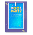 party in swimming pool poster with advertising vector image vector image