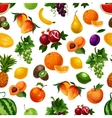 pattern fresh fruits with leaves vector image