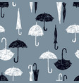 pattern of the black and white umbrellas vector image vector image