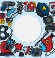 police justice symbol icons round set vector image vector image