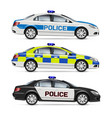 realistic police cars vector image