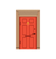 red front door to house closed elegant door vector image vector image