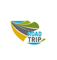 road trip and car journey icon for travel design vector image vector image