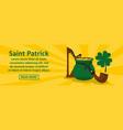 saint patrick banner horizontal concept vector image vector image