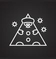 santa figure thin line on black background vector image