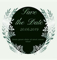save the date leaves design vector image
