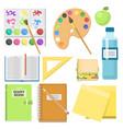 school supplies children stationary educational vector image vector image