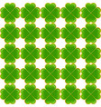 seamless saint patricks day clover background vector image