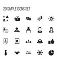 set of 20 editable job icons includes symbols vector image