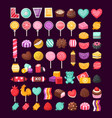 set of valentine candies vector image vector image