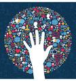 Social media network business vector image vector image